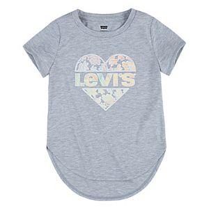 Girls 7-16 Levi's® Iridescent Foil Logo High-Low Tee