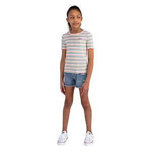 Girls 7-16 Levi's® Striped Lettuce Edge Hem Tee
