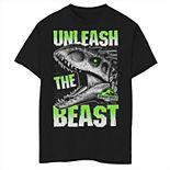 Boys 8-20 Jurassic World Unleash The Beast Graphic Tee