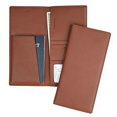 Royce Leather Airline Ticket & Passport Holder