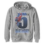 Boys 8-20 Marvel Spider-Man Swinging 5th Birthday Graphic Fleece Hoodie