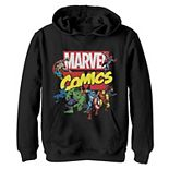 Boys 8-20 Marvel D23 Exclusive Avengers Retro Comic Group Shot Logo Graphic Fleece Hoodie
