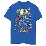 Boys 8-20 DC Comics Superman Come At Me Bro Text Poster Graphic Tee