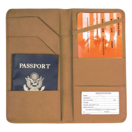 Royce Leather Checkpoint Passport Case