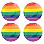 Celebrate Summer Together 4-pc. Melamine Rainbow Dinner Plate Set