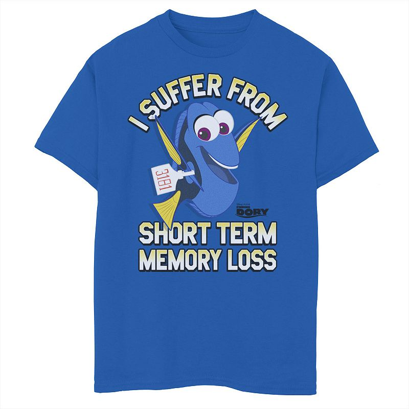 Disney / Pixar's Finding Dory Boys 8-20 Memory Loss Graphic Tee, Boy's, Size: Small, Med Blue
