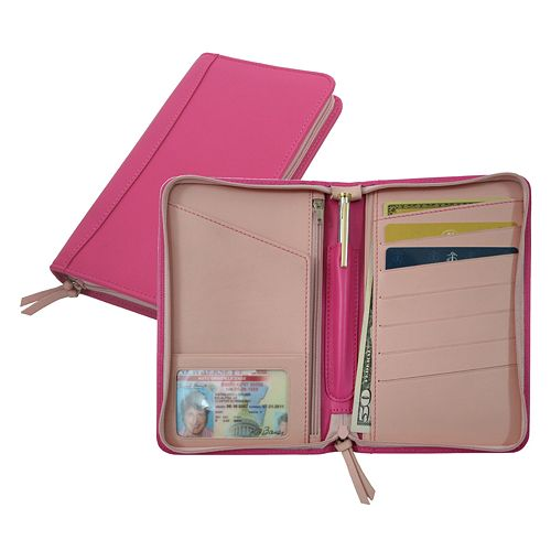Royce Leather Large Passport Wallet