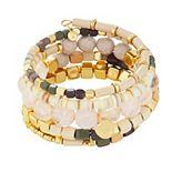 Sonoma Goods For Life® Gold Tone & Light Pink Beaded Coil Bracelet