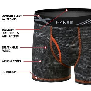 Boys 6-20 Hanes Ultimate 5-Pack X-Temp Boxer Briefs