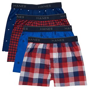 Boys 6-20 Hanes 4-Pack Ultimate Woven Boxers