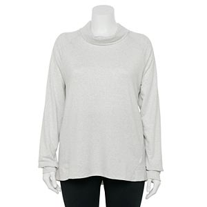 Plus Size Tek Gear French Terry Cowlneck Top