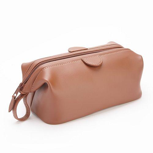 Royce Leather Barrel Toiletry Bag