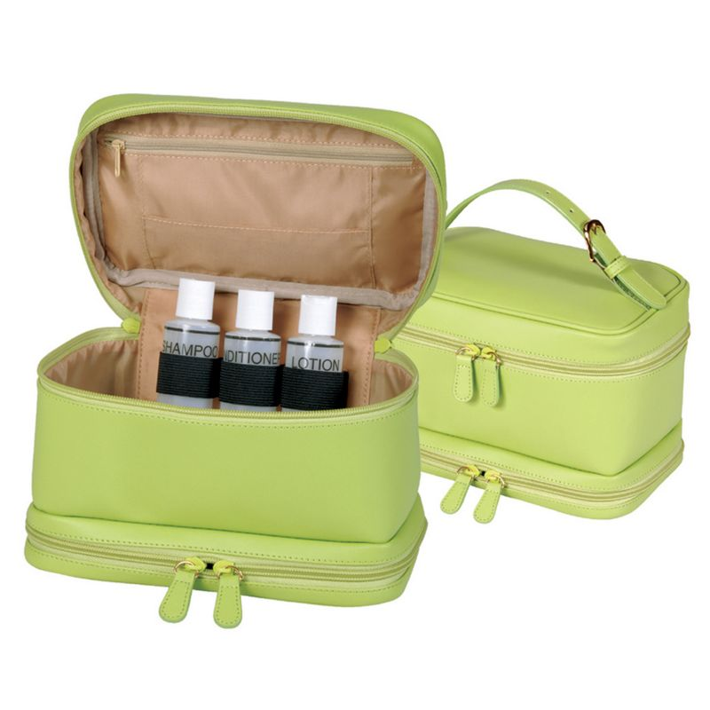 Royce Leather Cosmetic Travel Case, Men's, Multicolor