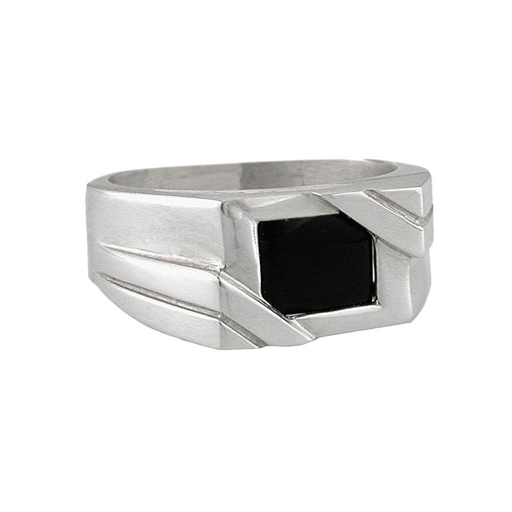Sterling Silver Onyx Ring - Men