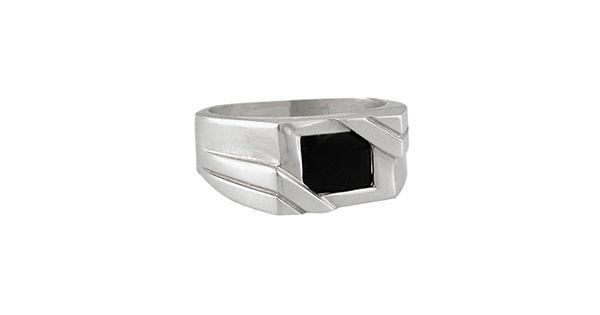 Sterling Silver Onyx Ring Men