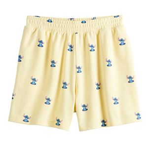 Disney's Lilo & Stitch Juniors' Cute French Terry Embroidered Gym Shorts