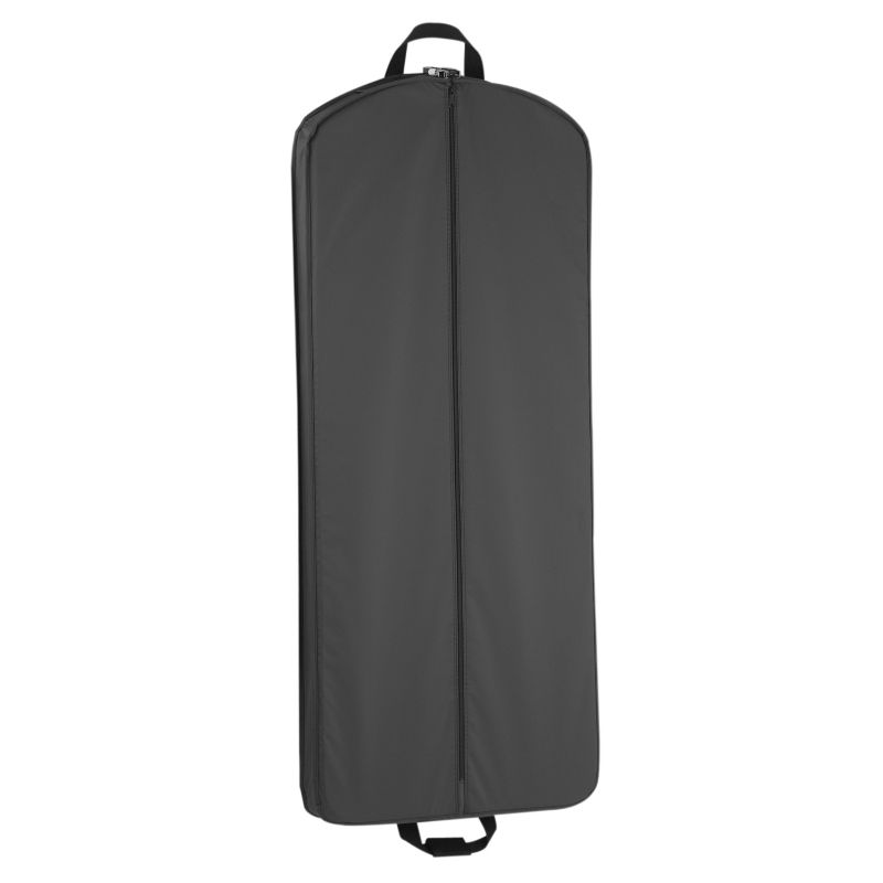 suitcase with garment bag attached