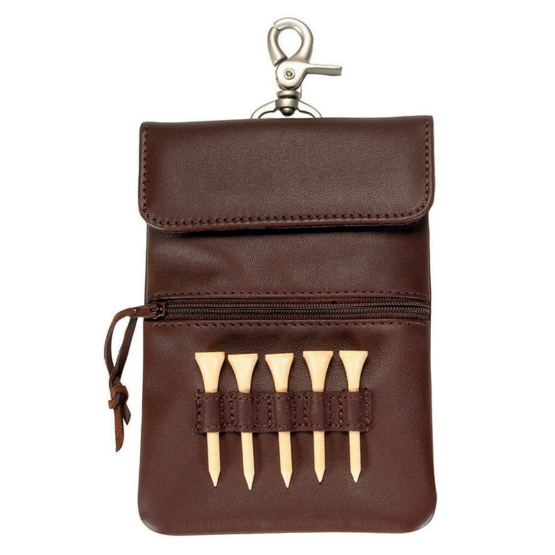 Royce Leather Clip On Golf Accessory Bag - Coco