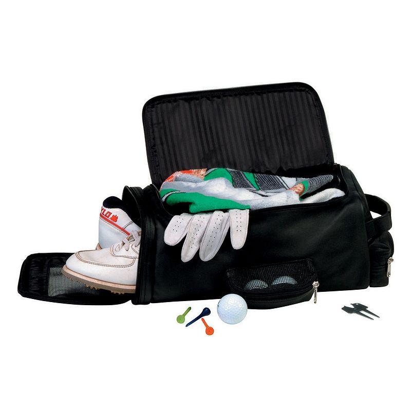 Royce Leather Golf Shoe & Accessory Bag - Black