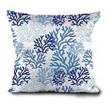HFI Coral Me Crazy Textured Print Throw Pillow