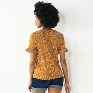 Women's Nine West Ruffle Sleeve Top