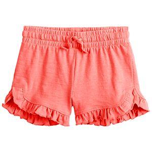 Girls 4-12 Jumping Beans Ruffle Hem Shorts
