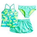 Girls 7-16 ZeroXposur Puff Princess Tankini Top, Bottoms & Shorts Swimsuit Set