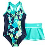 Girls 7-20 ZeroXposur Tutti Fruitti One-Piece & Cover-Up Skirt Swimsuit Set