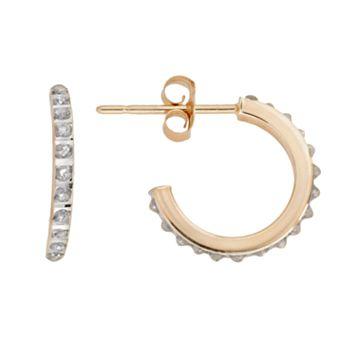Diamond Fascination® 14k Gold Semihoop Earrings