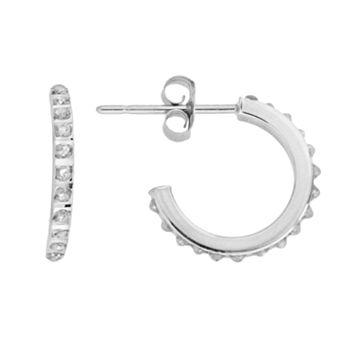 Diamond Fascination® 14k White Gold Semihoop Earrings