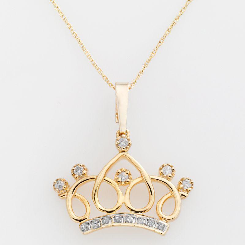 gold crown pendants kohl s