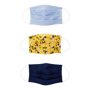 3-Pack Carters Floral Stripe & Navy Washable Cloth Face Masks