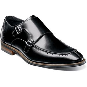 Stacy Adams Baldwin Men's Leather Double Monk Strap Shoes