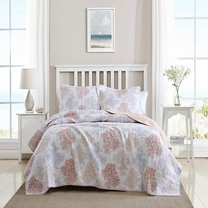 Laura Ashley Saltwater Quilt Set with Shams