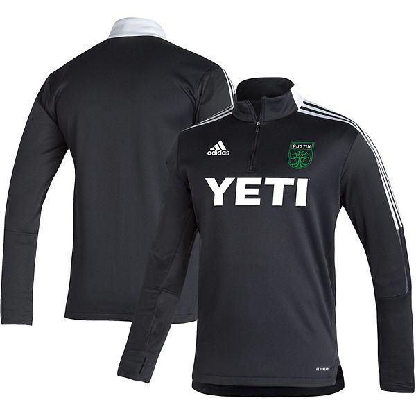 Men's adidas Black Austin FC Tiro Warm AEROREADY Quarter-Zip Jacket