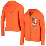Youth 5th & Ocean by New Era Orange San Francisco Giants Logos & Icons Tri-Blend Full-Zip Hoodie
