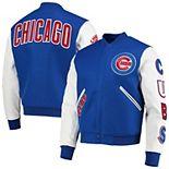Men's Royal/White Chicago Cubs Logo Full-Zip Varsity Jacket