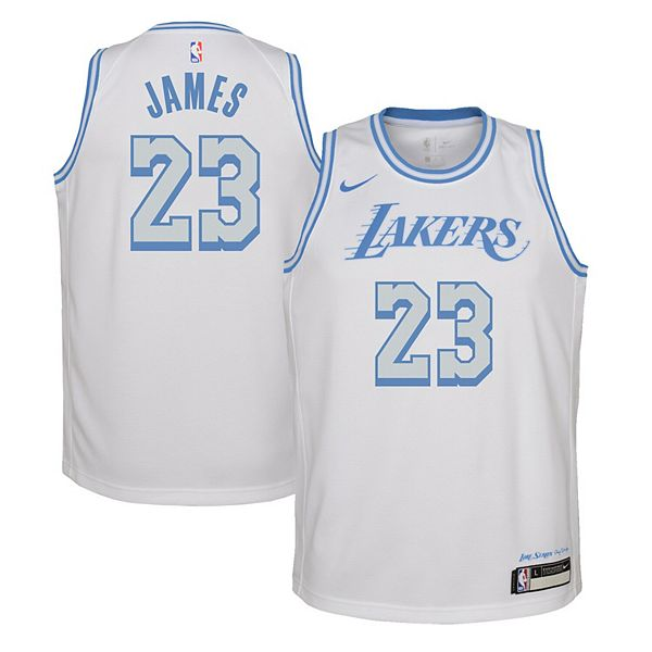 Youth Nike LeBron James White Los Angeles Lakers 2020/21 ...