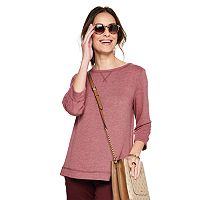 Croft & Barrow Womens Fleece Boatneck Sweatshirt Deals