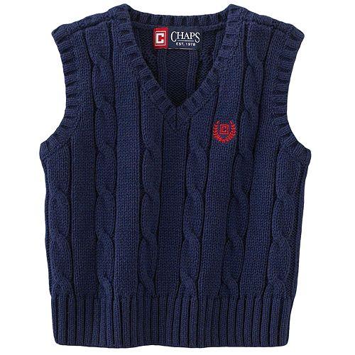 Chaps Cable-Knit Sweater Vest