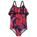 Girls 4-16 Lands' End Ruffle One-Piece Swimsuit
