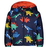 Toddler Boy Carter's Multicolor Dinosaur Hooded Midweight Jacket