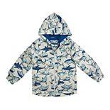 Toddler Boy Carter's Sharks Hooded Lightweight Rain Jacket