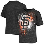 Youth 5th & Ocean by New Era Gray San Francisco Giants Splatter Logo Tri-Blend T-Shirt