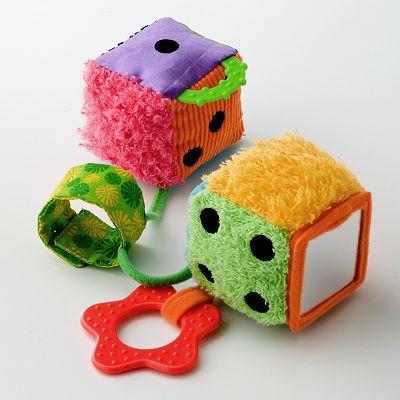 infantino Dice Dice Baby Travel Toy