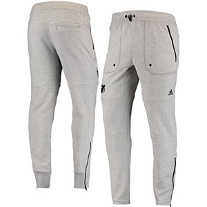 Men's adidas Heathered Gray New Jersey Devils Terry Jogger Pants