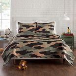 Urban Playground Covert Camo Quilt Set with Shams