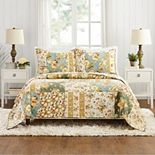 Modern Heirloom Floral Patch Quilt Set with Shams
