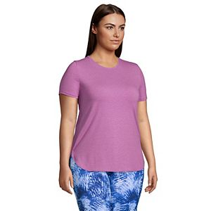 Plus Size Lands' End Moisture Wicking UPF 50 Tunic Tee