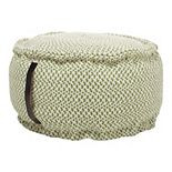 Mina Victory Indoor Outdoor Woven Pouf